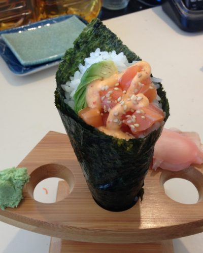 Yama Sushi-San Francisco-Spicy-Salmon-Hand-Roll